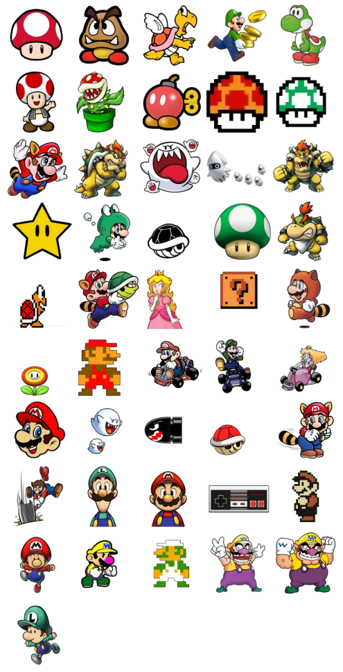 Super Mario Bros Stickers Telegram