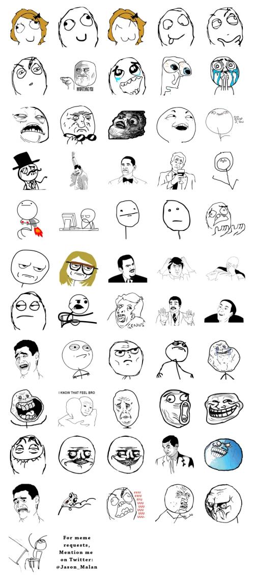 Rage memes sticker pack