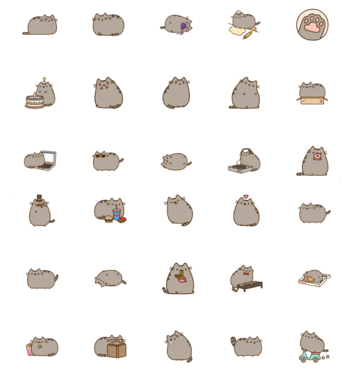 https://telegram.me/addstickers/Pusheen: www.stickerstelegram.com/animals/pusheen