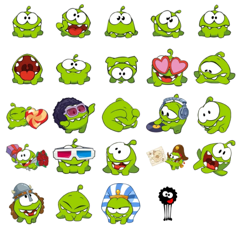 Cut The Rope Stickers Telegram