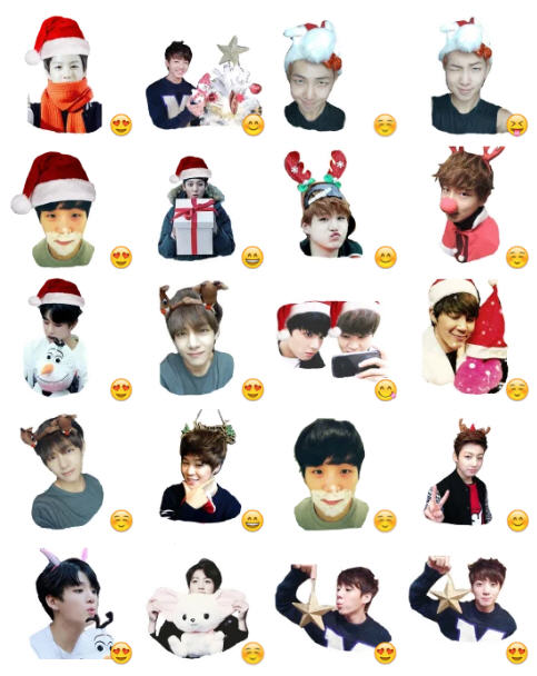 Bts Christmas Stickers Telegram