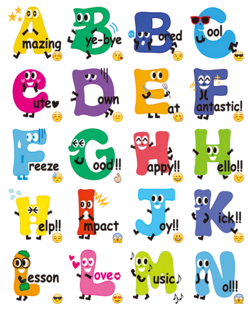 alphabets sticker