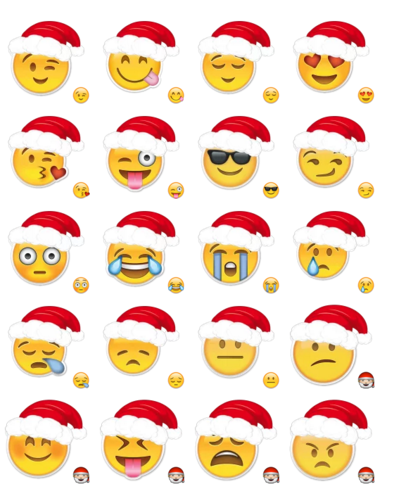 Christmas Emoji.Merry Christmas Emoji Stickers Telegram
