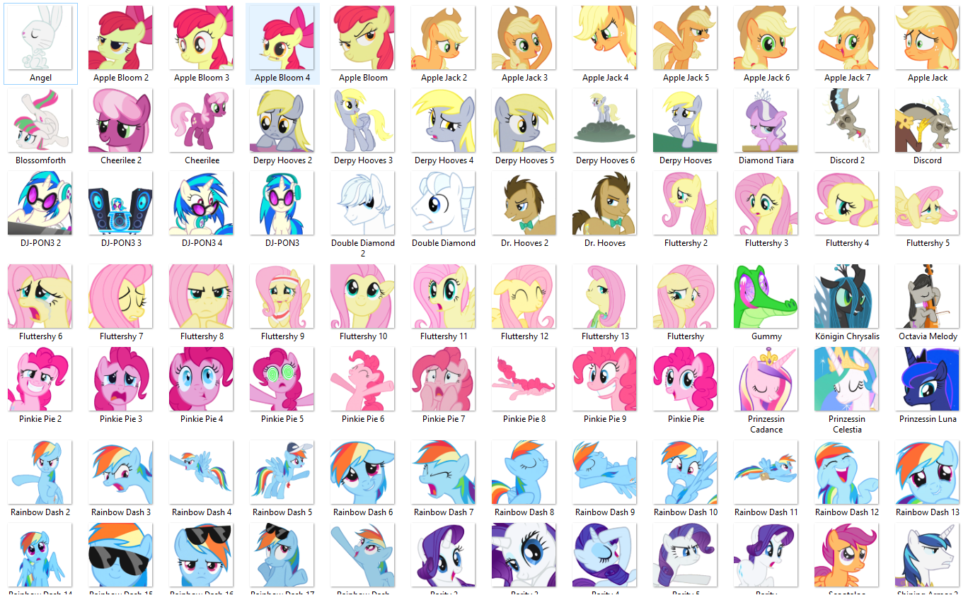 101 Ponies By Blacknebular Stickers Telegram