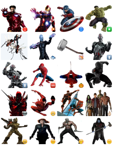 Marvel | Stickers Telegram Funny Faces Cartoon For Facebook