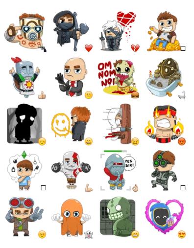 Videogames | Stickers Telegram